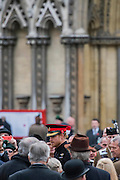 Prince Harry mingles amiably with soldiers and their families - The Duke of Edinburgh, Life Member, Royal British Legion, accompanied by Prince Harry, visit the Field of Remembrance at Westminster Abbey  - 10 November 2016, London.