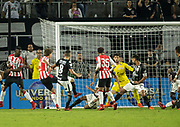 01/10/2018. Orlando, USA.  <br /> <br /> CORINTHIANS SP V PSV EINDHOVEN 2018 Florida Cup.<br /> <br /> PSV's NO 14 SAM LAMMERS scores the EQUALISER with seconds left in the game  after the game finished 1-1  Corinthians win 5-4 on Penalties DURING THE FIRST MATCH OF THE 2018 FLORIDA CUP BETWEEN CORINTHIANS AND PSV EINDHOVEN. <br /> <br /> At  ORLANDO CITY STADIUM, Orlando.<br /> Pic: Mark Davison /PLPA