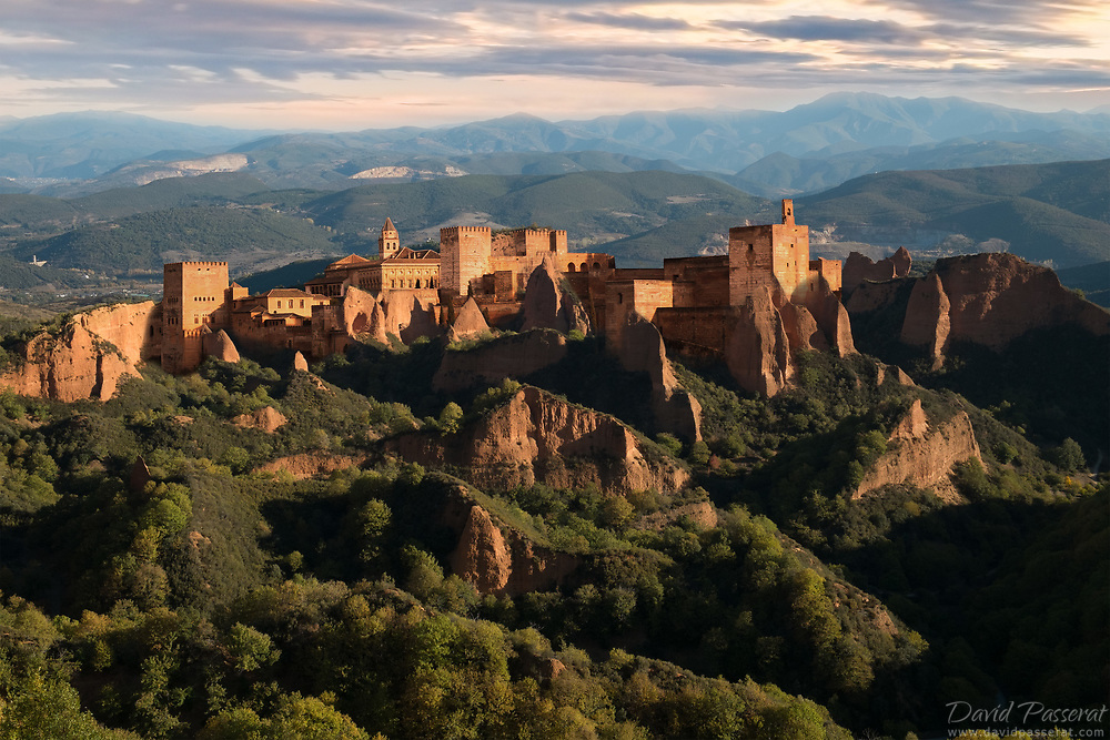La Alhambra is emerging from the sculpted rock valley in las Medulas.