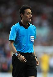 Match referee Hiroyuki Kimura during the International Friendly match at Elland Road, Leeds