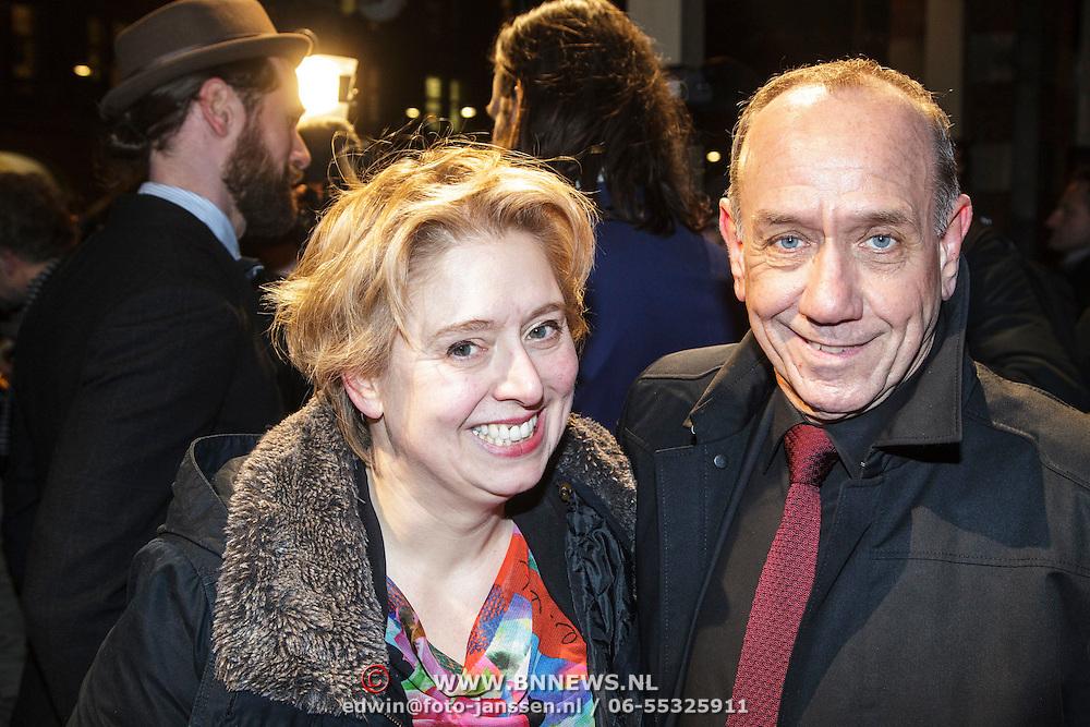 NLD/Amsterdam/20150306 - Boekenbal 2015, Peter Romer en partner