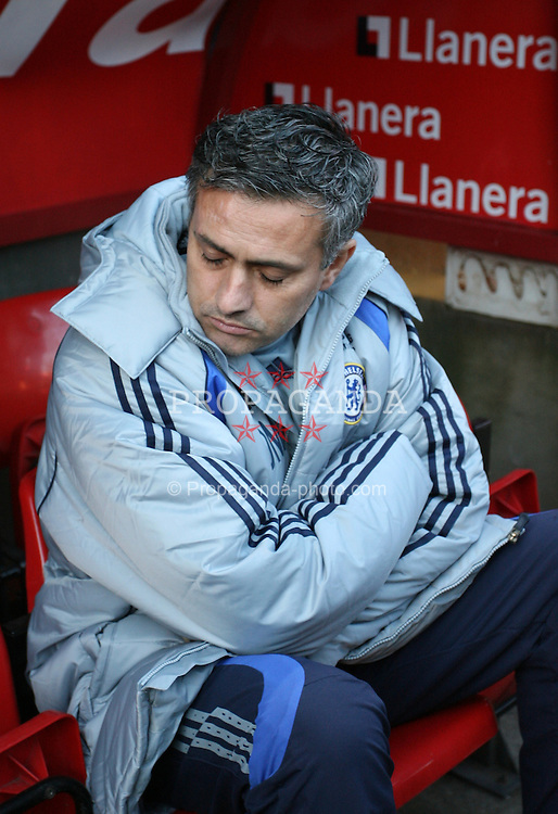 London, England - Tuesday, January 23, 2007: Chelsea's manager Jose Mourinho against Charlton Athletic during the Premiership match at the Valley. (Pic by Chris Ratcliffe/Propaganda)