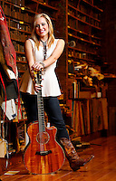 Mary Sarah poses for a portrait at Hatch Show Print inside The Country Music Hall of Fame and Museum.