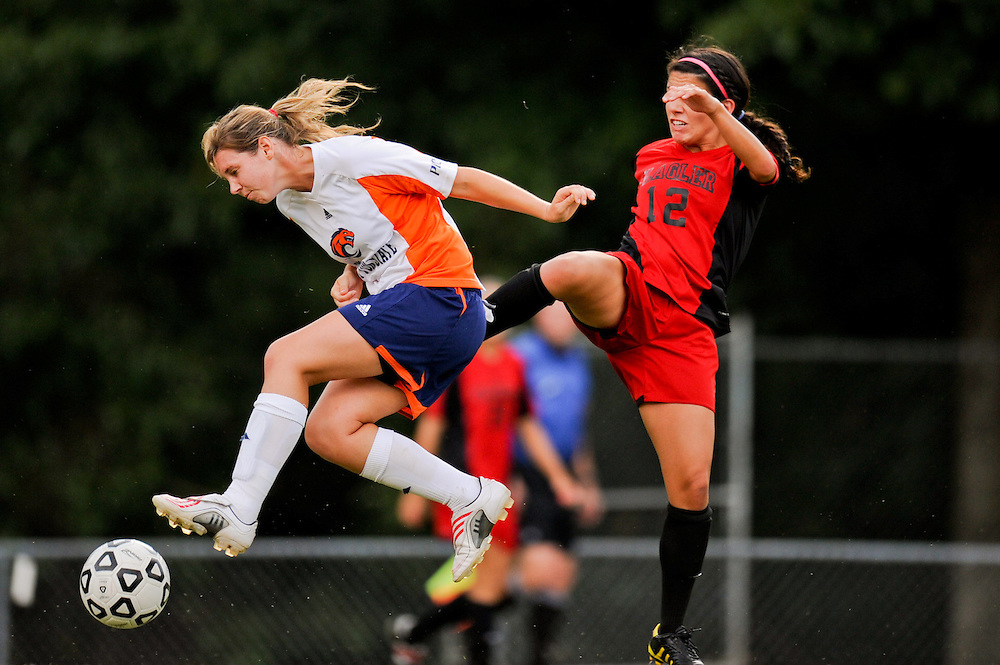 Sept. 15, 2012; Morrow, GA, USA; Clayton State women's soccer player Emily Walling against the Flagler at CSU. Photo by Kevin Liles/kdlphoto.com