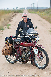 Fred Wacker of Illinois riding his 1913 Indian during the Motorcycle Cannonball Race of the Century. Stage-8 from Wichita, KS to Dodge City, KS. USA. Saturday September 17, 2016. Photography ©2016 Michael Lichter.