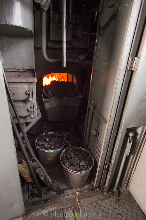 Furnace for heating on the BAM (Baikal-Amur Mainline) Railway Line, Siberia, Russia