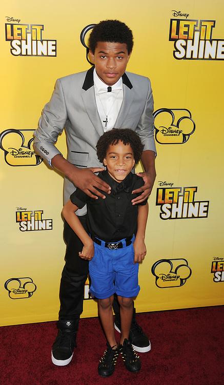 LOS ANGELES, CA - JUNE 05: Trevor Jackson attends Disney's 'Let It Shine' Premiere held at The Directors Guild Of America on June 5, 2012 in Los Angeles, California.