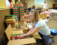 Christmas Shoe Boxes Packed in Langhorne, Pennsylvania