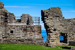 A detail of St Andrews Castle, St Andrews, Fife, Scotland<br /> <br /> (c) Andrew Wilson | Edinburgh Elite media