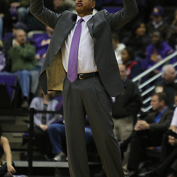 Jan 04, 2010; Baton Rouge, LA, USA;  LSU Tigers head coach Trent Johnson instructs his team during the first half against the McNeese State Cowboys at the Pete Maravich Assembly Center.  Mandatory Credit: Derick E. Hingle-US PRESSWIRE