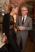 INDRE SERPYTYTE; DAVID ROBERTS, Charles Finch and  Jay Jopling host dinner in celebration of Frieze Art Fair at the Birley Group's Harry's Bar. London. 10 October 2012.