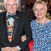 NLD/Amsterdam/20171012 - Televizier-ring Gala 2017, Judith Bosch en partner Wim le Rutte
