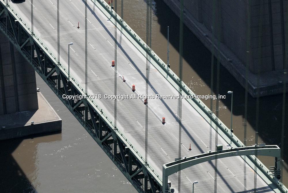 Aerial view of Delaware Memorial Bridge,