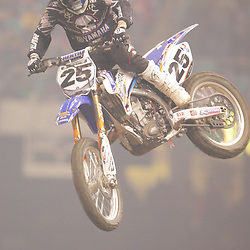 14 March 2009: Nathan Ramsey (25) gains air during the Monster Energy AMA Supercross race at the Louisiana Superdome in New Orleans, Louisiana