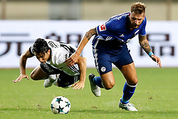 ZHUHAI, July 19, 2017 Guido Burgstaller (R) of FC Schalke 04 vies with Necip Uysal of Besiktas JK during a pre-season soccer match at Zhuhai Sports Center Stadium in Zhuhai, south China's Guangdong Province, July 19, 2017. FC Schalke 04 won 3-2. (Credit Image: © Wang Lili/Xinhua via ZUMA Wire)