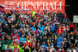 Supporters during the Audi FIS Alpine Ski World Cup Men's Slalom 58th Vitranc Cup 2019 on March 10, 2019 in Podkoren, Kranjska Gora, Slovenia. Photo by Matic Ritonja / Sportida