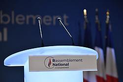 May 26, 2019 - Paris, Ile-de-France (region, France - The electoral evening of the European elections is preparing for the National Rally. (Credit Image: © Julien Mattia/Le Pictorium Agency via ZUMA Press)