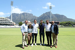 Tsholo Kubheka (General Manager - Commercial at South African Rugby Union)  Cricket SA's Head of Commercial and Marketing, Clive Eksteen, Ben Lindeque, Business Architect at Prepaid24.com , Lunga Nene, media analyst at the Nelson Mandela Foundation with Jessie Kriel and Wayne Parnell during the launch of the 2016 Nelson Mandela Legacy Cup held at the PPC Newlands ground in Cape Town on the 11th November 2016.  The match between The Proteas and the Springboks will be played on the 8th December at Newlands.<br /> <br /> Photo by: Ron Gaunt / RealTime Images