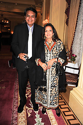 SATISH & ABHA MODI at a reception hosted by Films Without Borders at the Lanesborough Hotel, Hyde Park Corner, London on 27th October 2010.