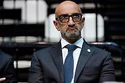 Vitucci Francesco<br /> UnaHotels Reggio Emilia Happy Casa Brindisi<br /> Legabasket Serie A UnipolSAI 2020/2021<br /> Bologna, 11/10/2020<br /> Foto A.Giberti / Ciamillo-Castoria