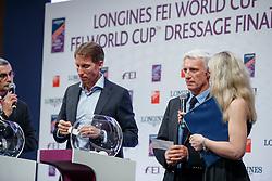 ECKERMANN Henrik von (SWE), BOST Roger Yves (FRA)<br /> Paris - FEI World Cup Finals 2018<br /> Impressionen Draw-Party<br /> Auslosung Startfolge<br /> www.sportfotos-lafrentz.de/Stefan Lafrentz<br /> 11.04.18