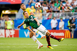 July 2, 2018 - Samara, Russia - 180702 Andres Guardado of Mexico and Casemiro of Brazil during the FIFA World Cup round of 16 match between Brazil and Mexico on July 2, 2018 in Samara..Photo: Petter Arvidson / BILDBYRÃ…N / kod PA / 92081 (Credit Image: © Petter Arvidson/Bildbyran via ZUMA Press)