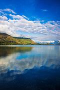Morning light on Lake Wanaka, Wanaka, Otago, South Island, New Zealand