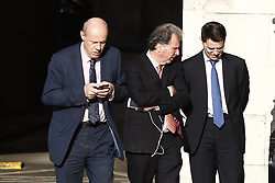 © Licensed to London News Pictures. 22/05/2019. London, UK. Conservative MP Damian Green (L) walks past Oliver Letwin (C) as he talks with Communities Secretary James Brokenshire at Parliament. Photo credit: Peter Macdiarmid/LNP