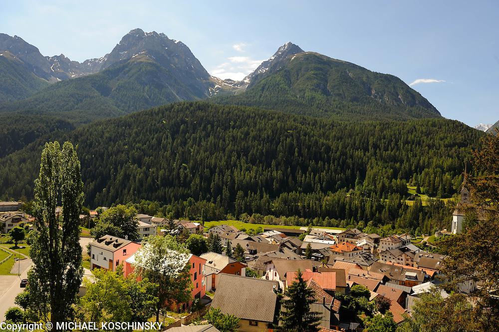 Switzerland, Engadin, Scuol