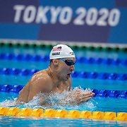 TOKYO, JAPAN - JULY 25: Chase Kalisz of the United States celebrates winning the gold medal in the 400m Individual Medley Final for men during the Swimming Finals at the Tokyo Aquatic Centre at the Tokyo 2020 Summer Olympic Games on July 25, 2021 in Tokyo, Japan. (Photo by Tim Clayton/Corbis via Getty Images)