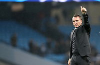 Football - 2016 / 2017 UEFA Champions League - Group C: Manchester City vs. Celtic<br /> <br /> Celtic manager Brendan Rogers waves after the match at the Ethihad Stadium.<br /> <br /> COLORSPORT/LYNNE CAMERON