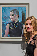 Ellen (pictured) in a Chines dress by Jeff Stultiens - The Royal Society of Portrait Painters Annual Exhibition at the Mall Galleries. It includes over 200 portraits by over 100 artists.