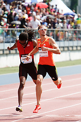 Samsung Diamond League adidas Grand Prix track & field; men's 400 meters, Jeremy Wariner edges Tabarie Henry at finish line