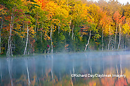 64776-02019 Council Lake in fall color Alger Co.  MI