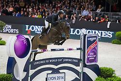 Delaveau Patrice (FRA) - Lacrimoso 3 Hdc<br /> Longines FEI World Cup™ Jumping Final 2013/2014<br /> Lyon 2014<br /> © Dirk Caremans