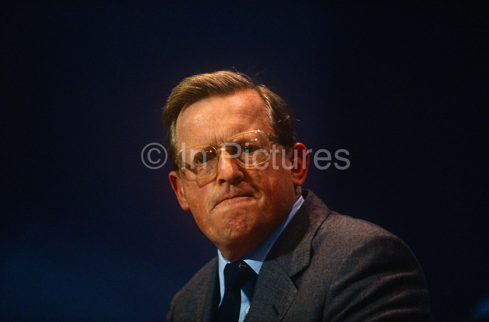 Defence Minister and Conservative MP, Tom King at the Conservative party conference on 10th September 1990 in Blackpool, England.