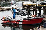 CCGS Cape Naden docked at Ganges Harbour on Salt Spring Island, British Columbia, Canada