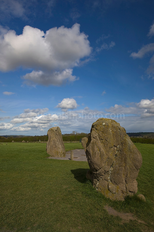 Standing stones at Newgrange, a 5000 year old passage tomb in Co. Meath, Ireland