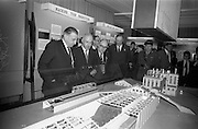 22/10/1963<br /> 10/22/1963<br /> 22 October 1963<br /> R.D.S. Scientific Exhibition opens. Bord na Mona stand at the exhibition. Taoiseach Sean Lemass (left) with Mr. D.C. Lawlor, Managing Director, Bord na Mona (second left).