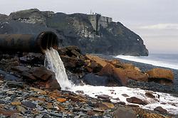 Outflow to beach Dawdon colliery; Co Durham UK