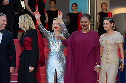 Jury members Chang Chen, Denis Villeneuve, Jury president Cate Blanchett, Jury members Lea Seydoux, Ava DuVernay, Kristen Stewart, Khadja Nin and Andrey Zvyagintsev attending the Red Carpet for the Closing Ceremony & screening of 'The Man Who Killed Don Quixote' held at the Palais Des Festivals in Cannes, France on May 19, 2018 as part of the 71st Cannes Film Festival. Photo by Nicolas Genin/ABACAPRESS.COM
