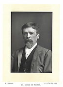 George Du Maurier (1834-1896) French-born English illustrator, cartoonist and novelist. Father of actor-manager Gerald Du Maurier, grandfather of novelist Daphne Du Maurier. Photograph published London c1895. Woodburytype.