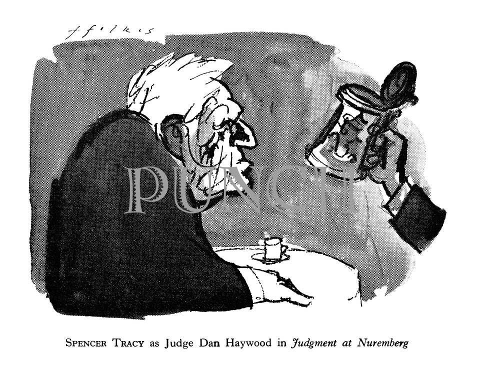 Spencer Tracy as Judge Dan Haywood in Judgment at Nuremberg