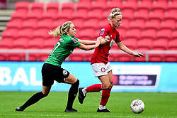 Jasmine Matthews of Bristol City is challenged by Aileen Whelan of Brighton and Hove Albion Women  - Mandatory by-line: Ryan Hiscott/JMP - 07/09/2019 - FOOTBALL - Ashton Gate - Bristol, England - Bristol City Women v Brighton and Hove Albion Women - FA Women's Super League