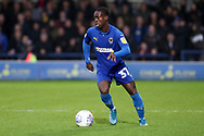 AFC Wimbledon defender Paul Osew (37) dribbling during the EFL Sky Bet League 1 match between AFC Wimbledon and Lincoln City at the Cherry Red Records Stadium, Kingston, England on 2 November 2019.