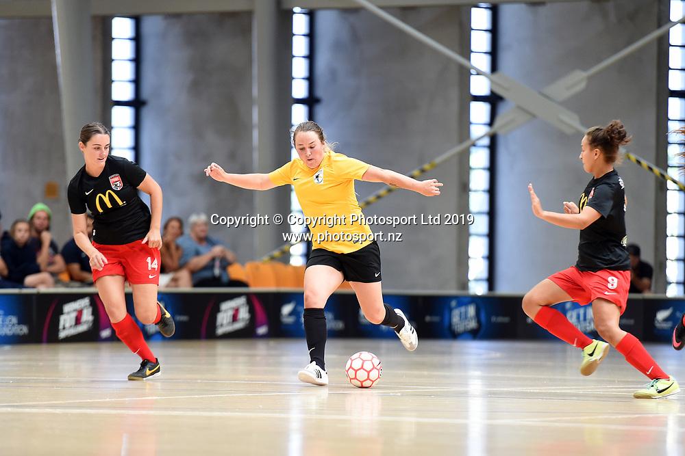 Capital's Libby Boobyer in action during the Women's Futsal SuperLeague Tournament, ASB Sports Centre, Wellington, Sunday 17th February 2019. Copyright Photo: Raghavan Venugopal / © www.Photosport.nz 2019