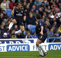 Fotball. premier League. 19.10.2002.<br /> Manchester City v Chelsea.<br /> Gianfranco Zola, Chelsea.<br /> Foto: Greig Cowie, Digitalsport