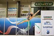 Caterina Allovio from Armonia D'Abruzzo team during the Italian Rhythmic Gymnastics Championship in Padova, 25 November 2017.