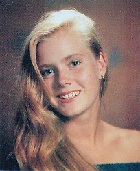 Nov 30, 2007; Castle Rock, CO, USA; 'Enchanted' star AMY ADAMS graduated in 1992 from Douglas County High School in her hometown of Castle Rock, Colo. She skipped college to pursue her passion for performing in musical theater. PICTURED: AMY ADAMS in 1992 senior yearbook photo (Credit Image: © Courtesy Douglas Co. H.S./ZUMAPRESS.com)
