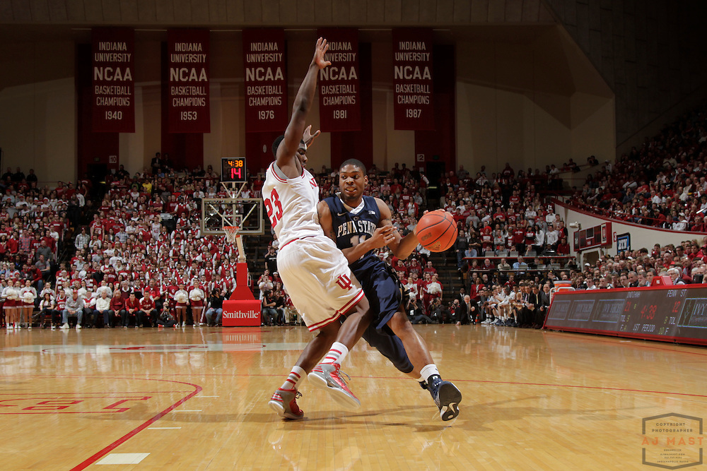 23 January 2013: Penn State Nittany Lions guard Jermaine Marshall (11) as the Indiana Hoosiers played the Penn State Nittnay Lions in a college basketball game in Bloomington, Ind.